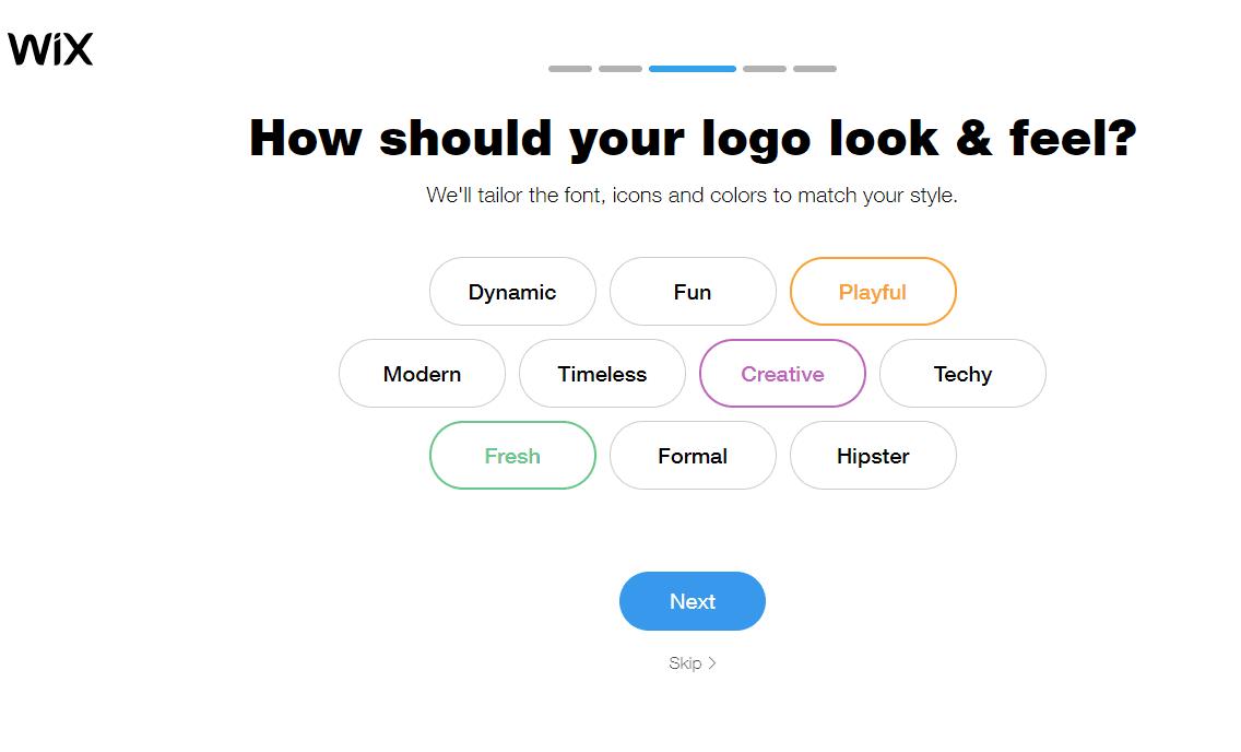 Wix Logo Maker screenshot - Logo look & feel