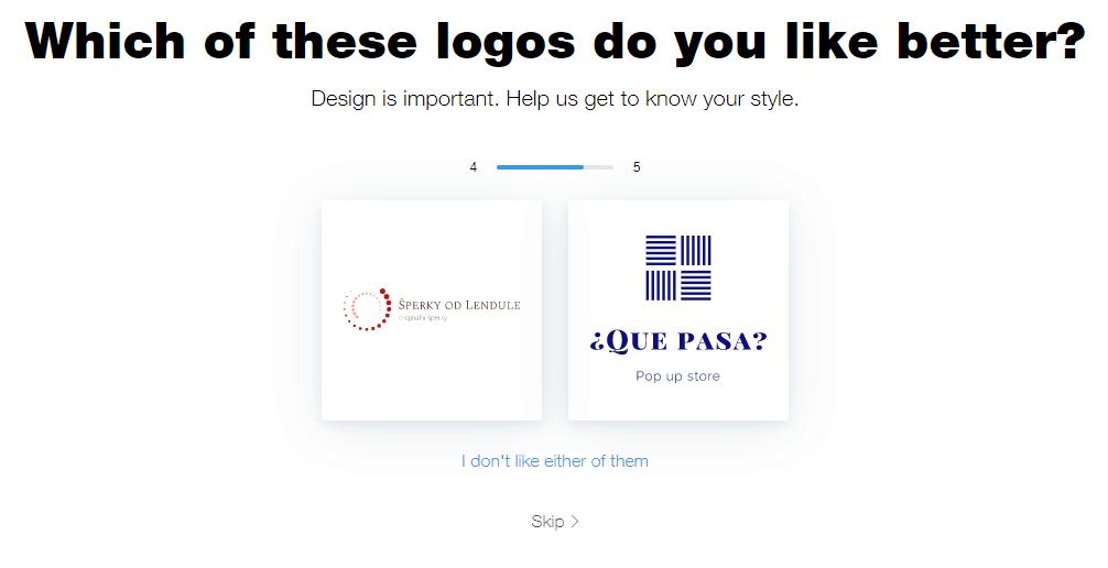 Wix Logo Maker screenshot - Which logo you like better