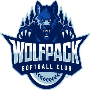 Softball logo - Wolfpack