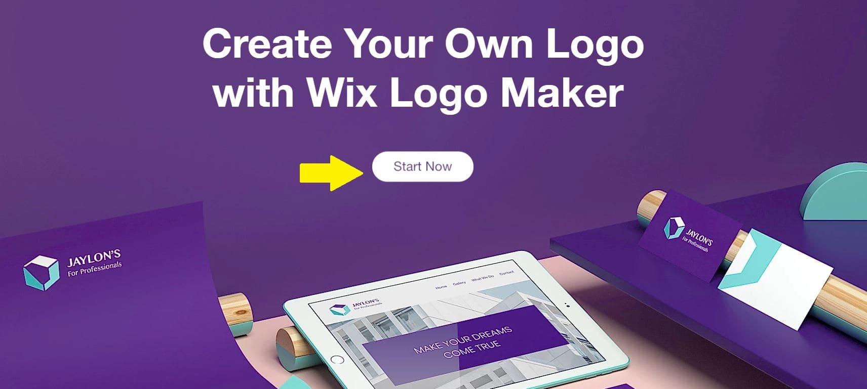 Wix Logo Maker screenshot - Start now