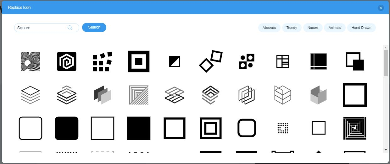 Wix Logo Maker screenshot - Square icons