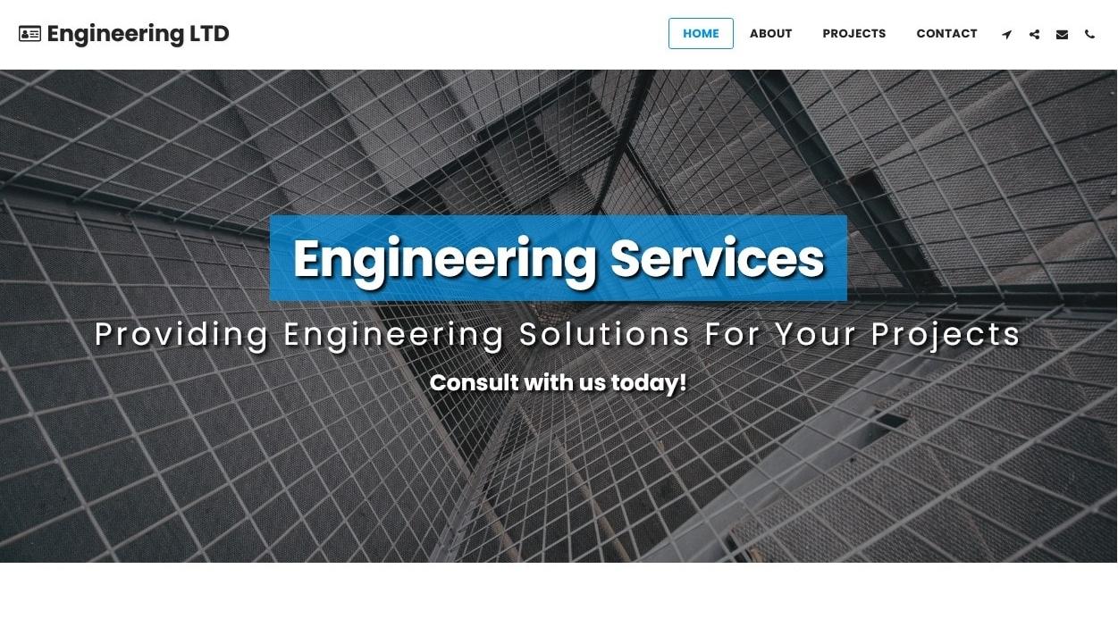 SITE123 - engineering template