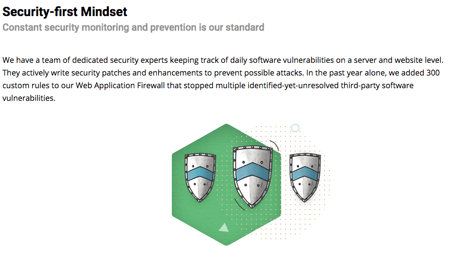 Description of SiteGround's security-first mindset