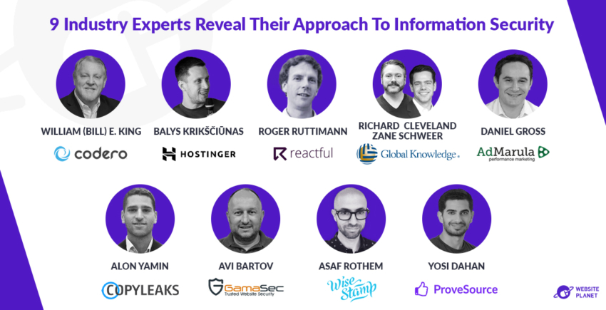 9 Industry Experts Reveal Their Approach To Information Security
