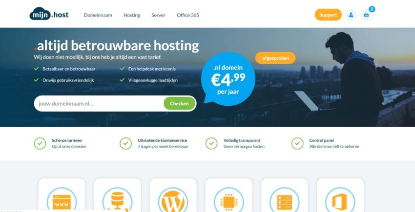 Mijn.Host Review Webhosting Vergelijken
