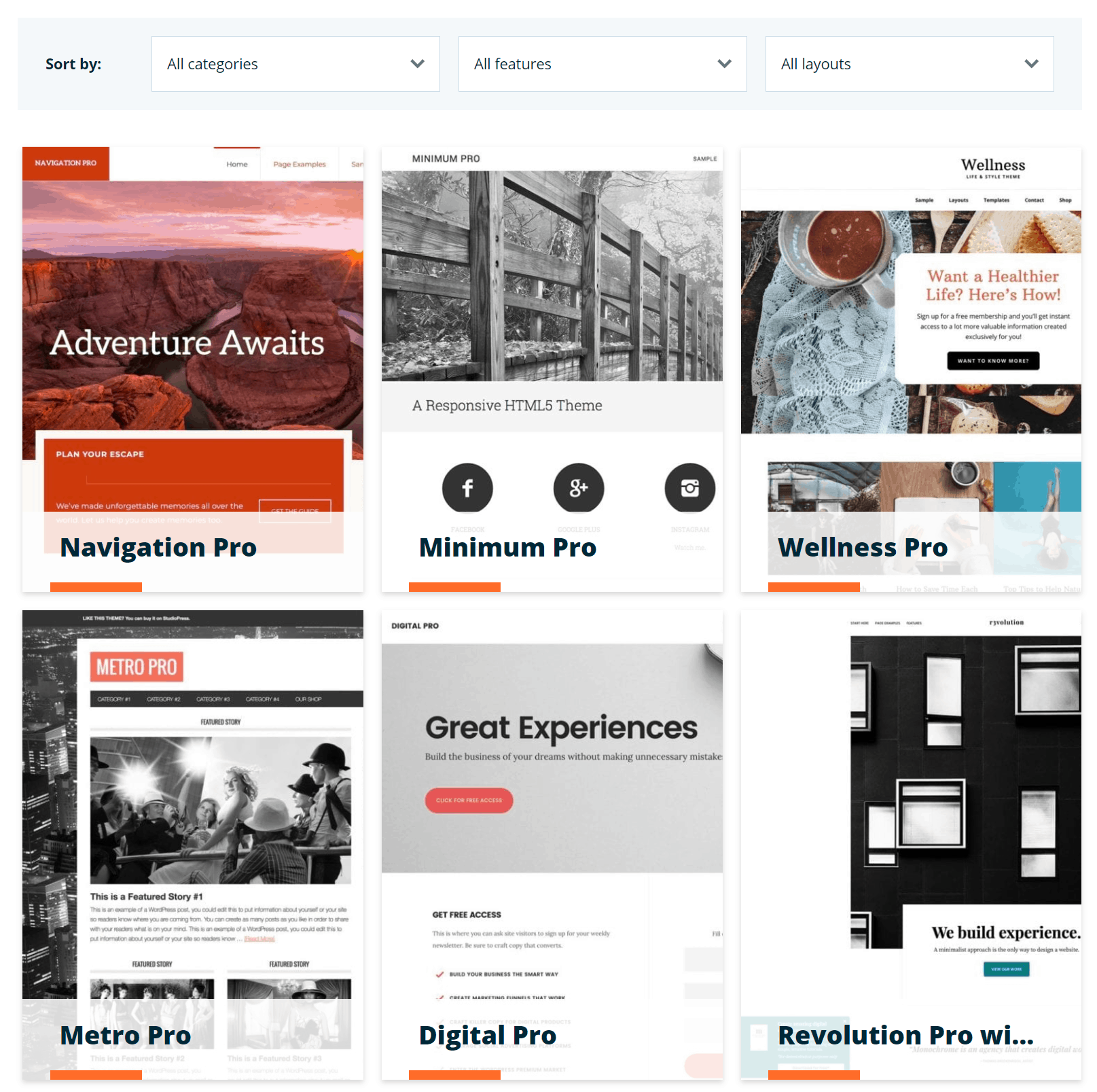 WP Engine premium StudioPress themes