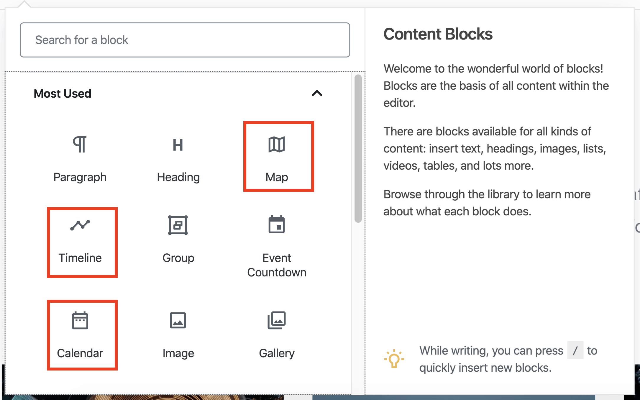 WordPress.com Content Blocks