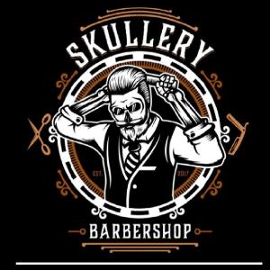 Barber logo - Skullery Barber Shop