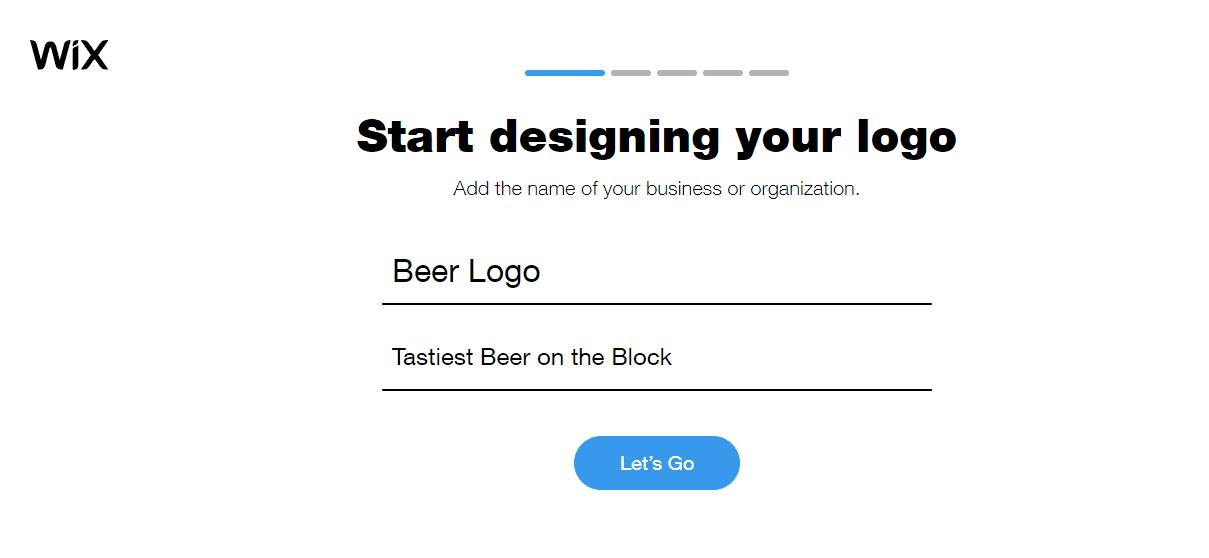 Wix Logo Maker screenshot - Start designing your logo