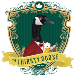Beer logo - The Thirsty Goose