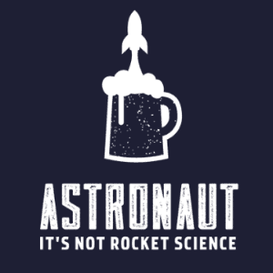 Beer logo - Astronaut