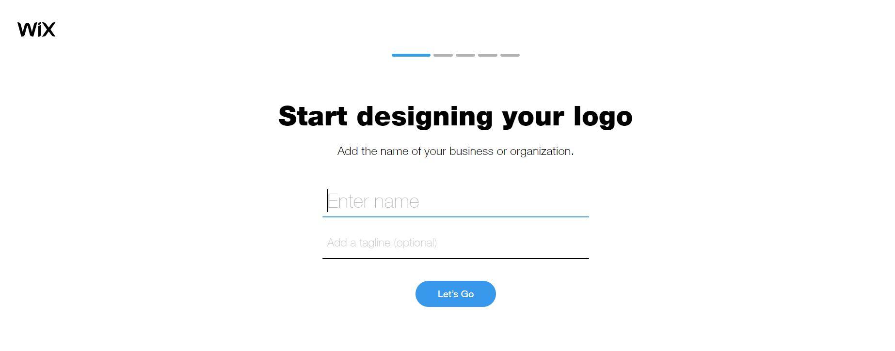 Wix Logo Maker screenshot - company details