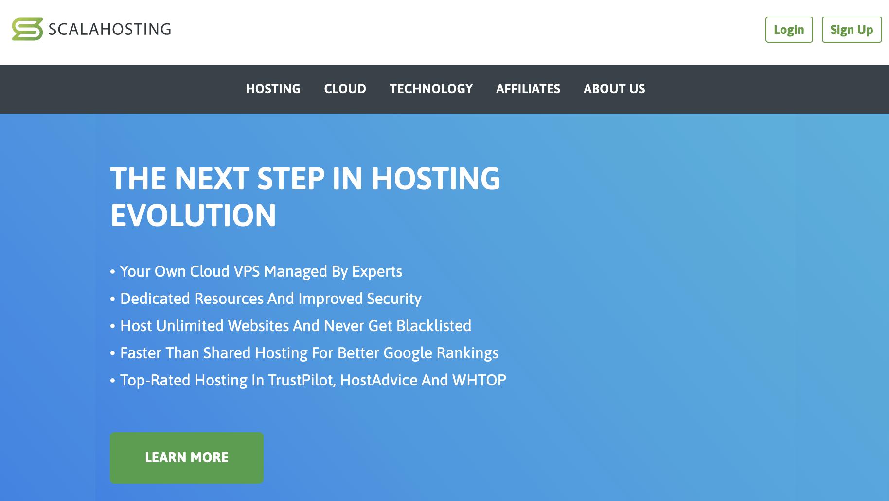 Scala Hosting Cloud VPS