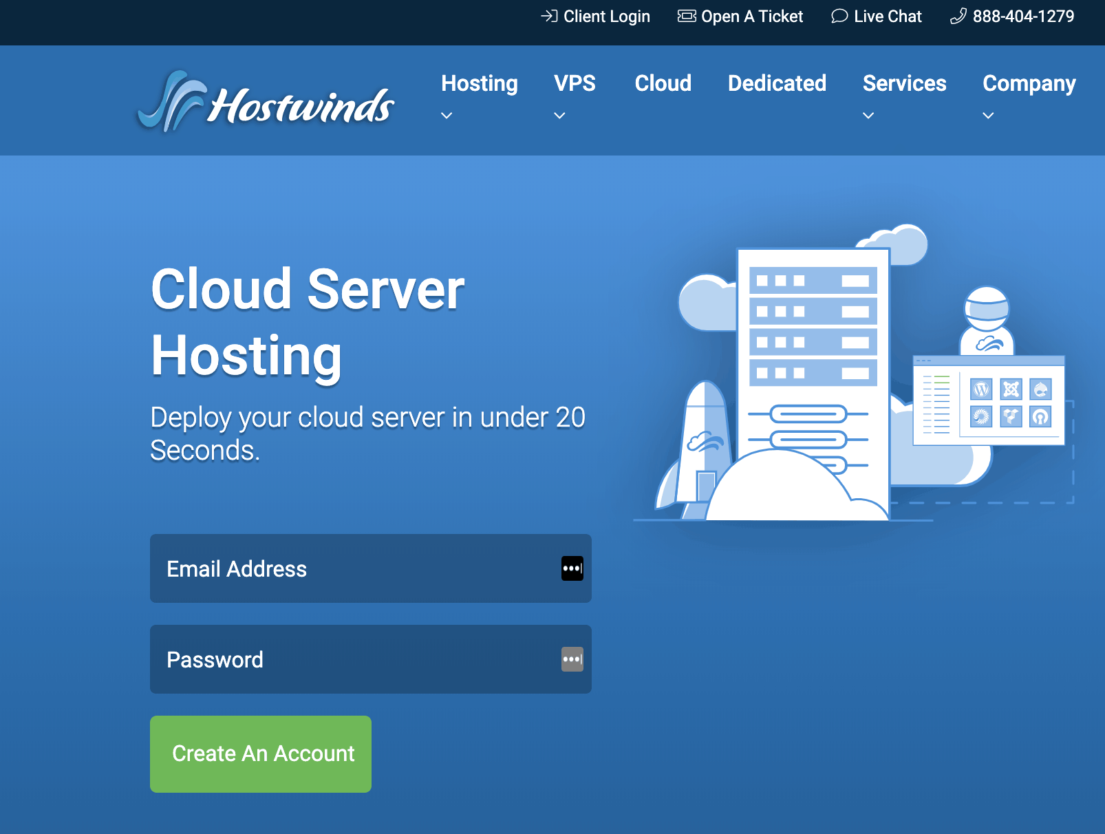 Hostwinds Cloud Server Hosting