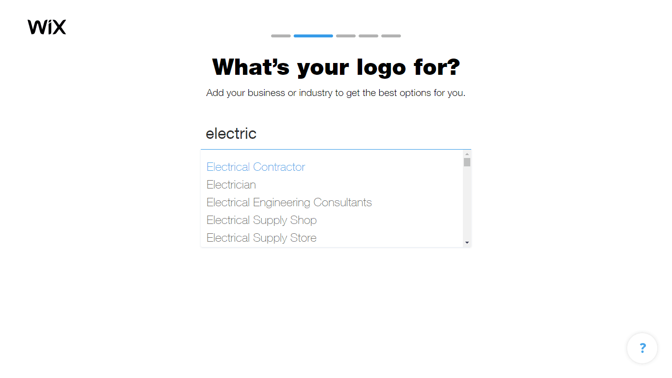 Wix Logo Maker screenshot - Electric industry options