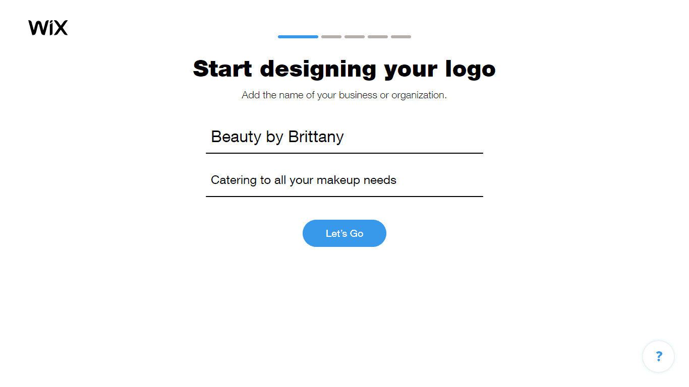 Wix Logo Maker screenshot - Add company name