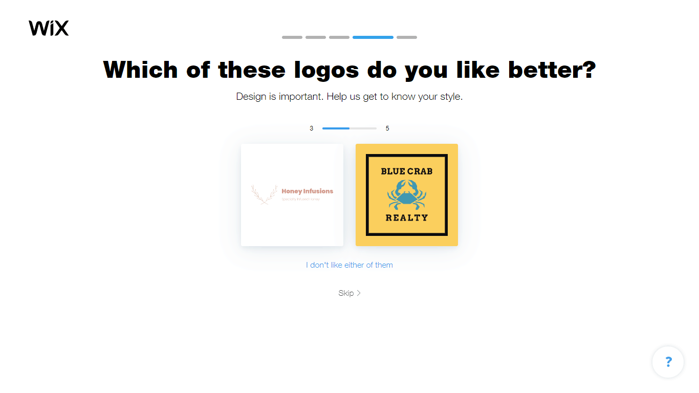 Wix Logo Maker screenshot - Logo style comparison