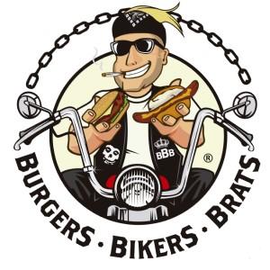 Motorcycle logo - Burger Bikers Brats