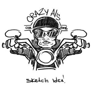 Motorcycle logo - Crazy Al's