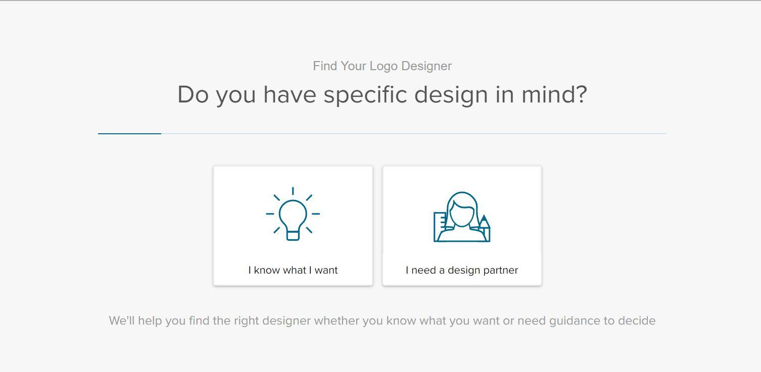Fiverr screenshot - Logo designer search wizard