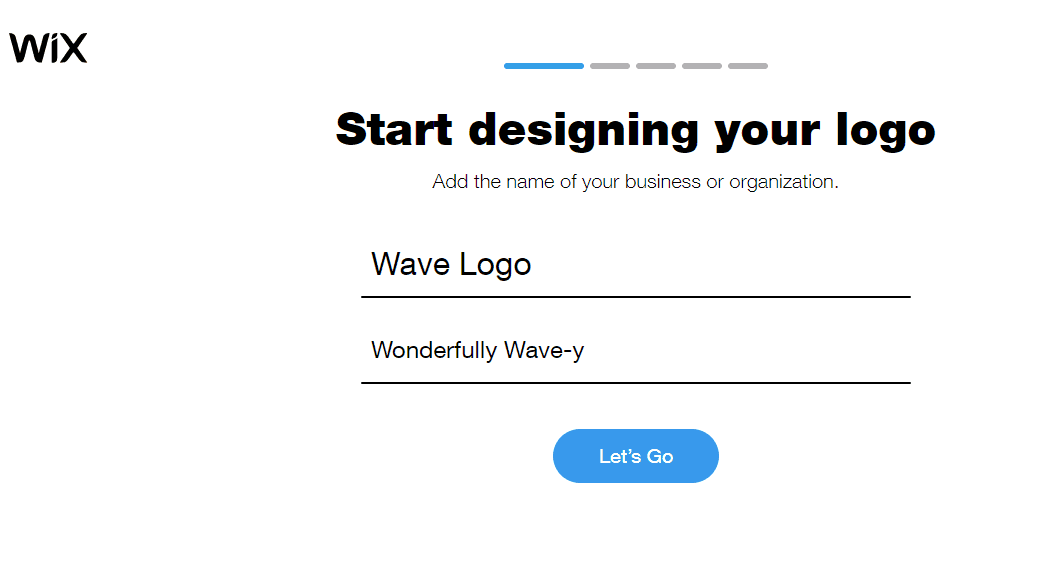 Wix Logo Maker screenshot - Start designing your logo