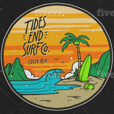 Wave logo - Tides End to Surf