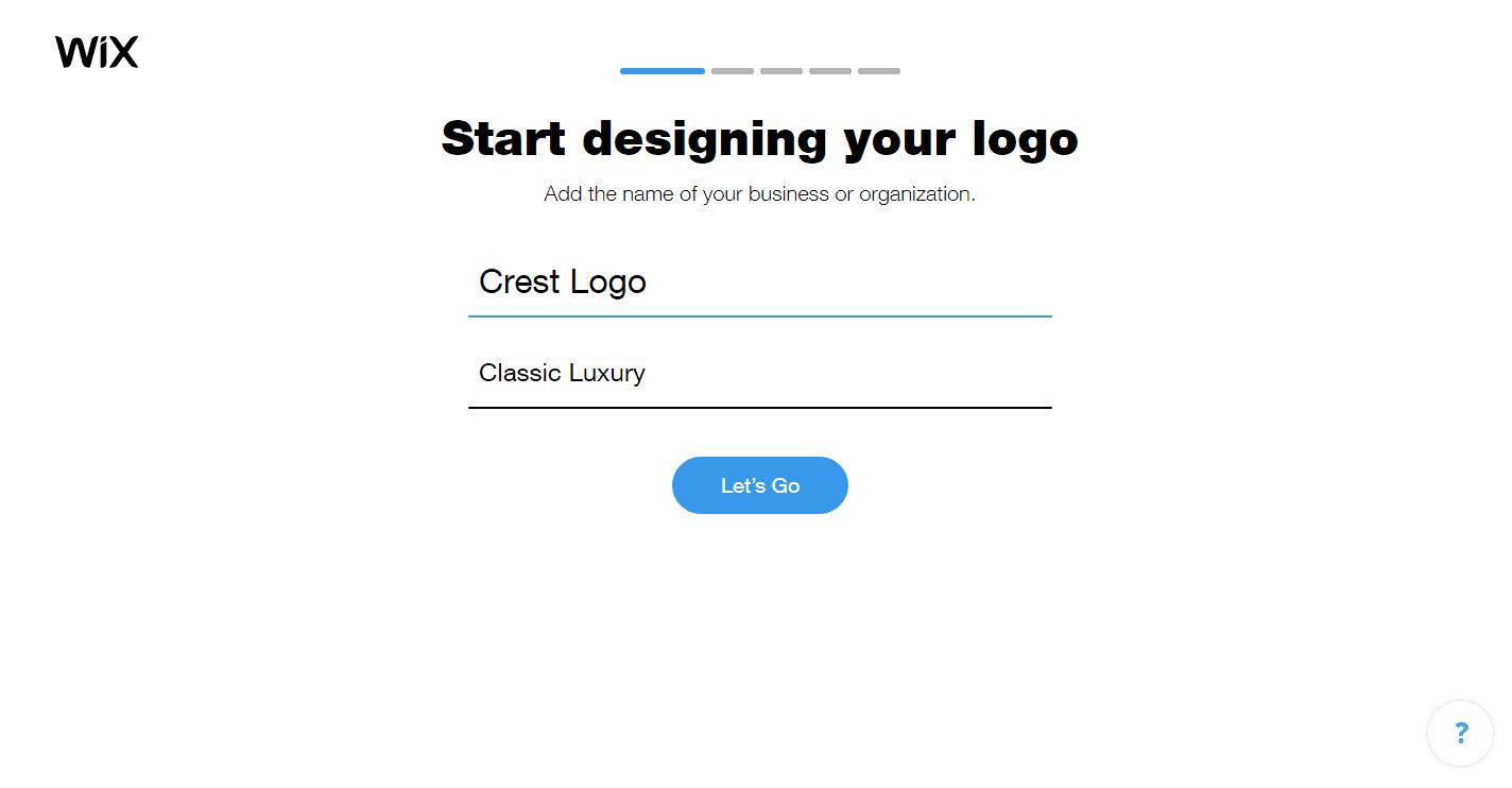 Wix Logo Maker screenshot - Business name