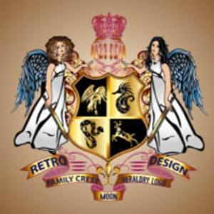 Crest logo - Retro Design