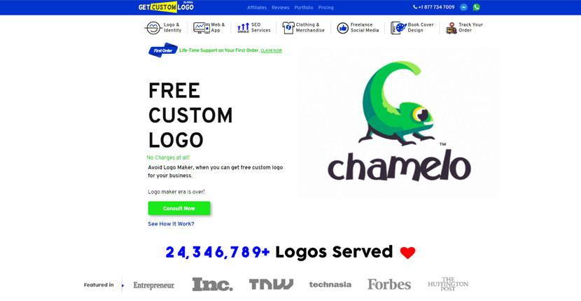 Get Custom Logo homepage