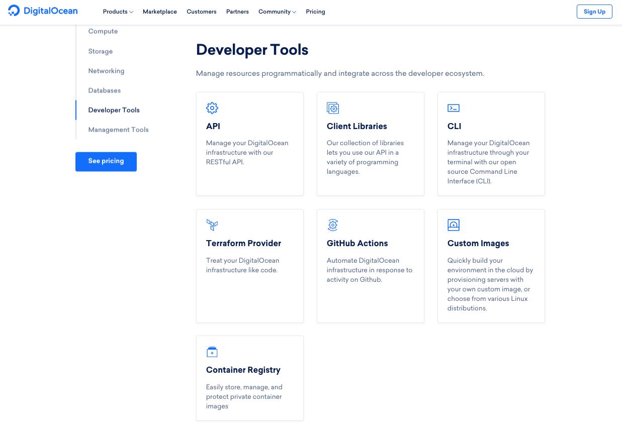 DigitalOcean's Developer Tools