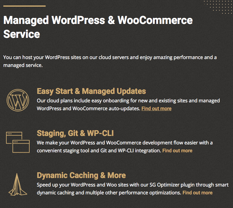 SiteGround's Managed WordPress and WooCommerce Service