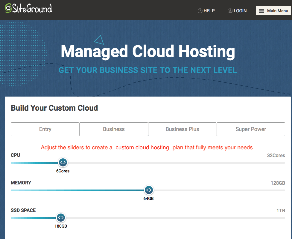 SiteGround's Managed Cloud Hosting