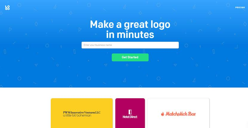 Logo.com homepage