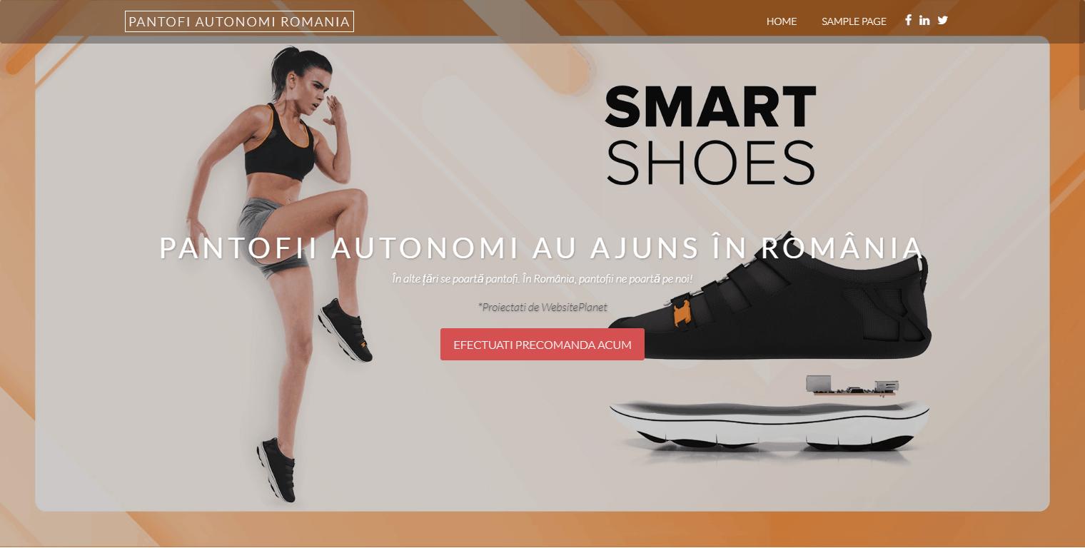 Site de test – Pantofii autonomi