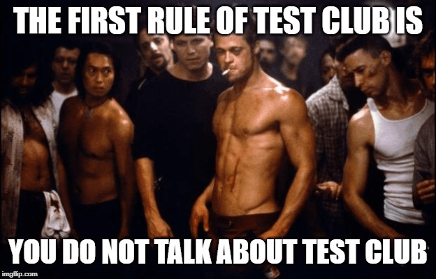 First rule of fight club meme