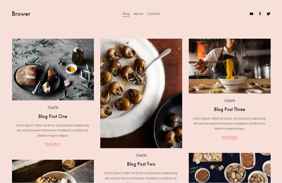 Squarespace Brower blog template