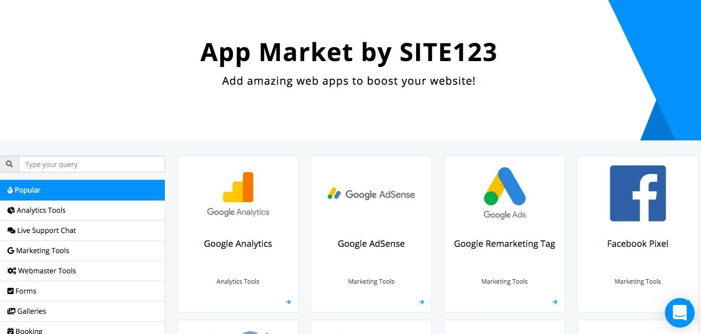 SITE123 App Market