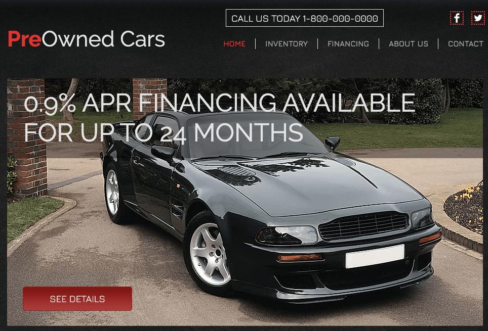 Wix Car Dealership template
