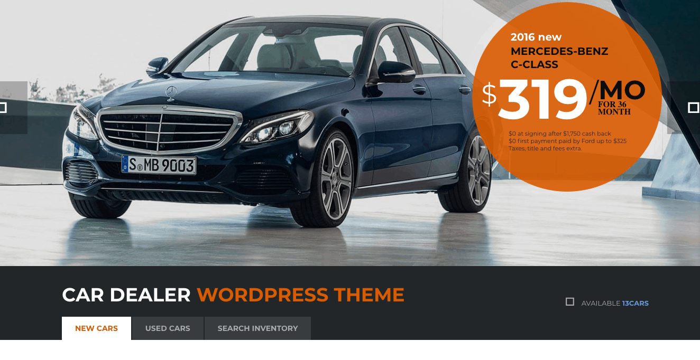 Wordpress - ThemeForest Motors theme