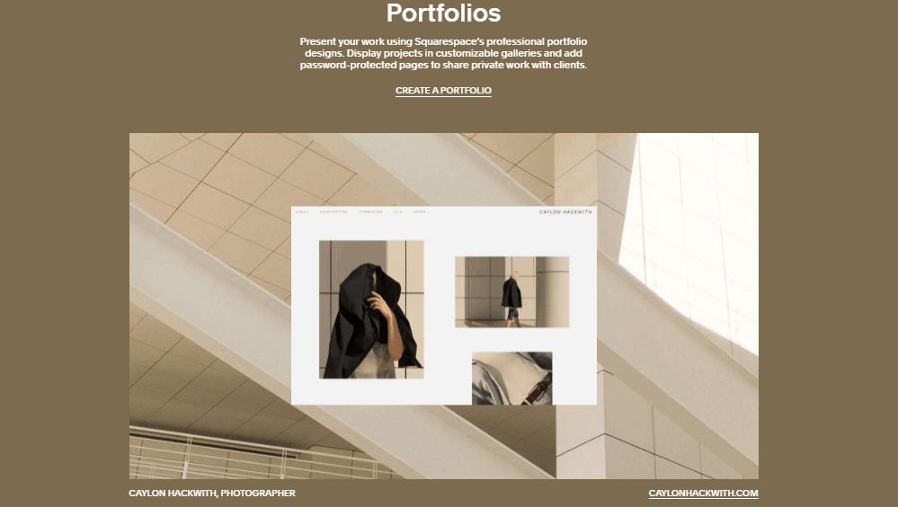 Squarespace portfolio template