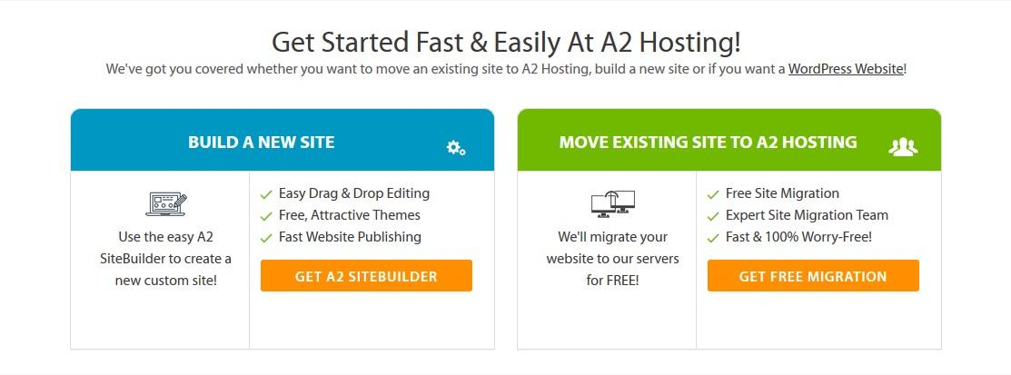 A2 Hosting - highlighted features