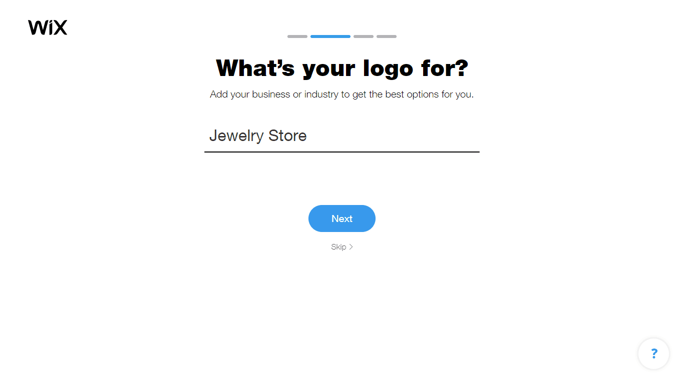 Wix Logo Maker screenshot - Choose industry