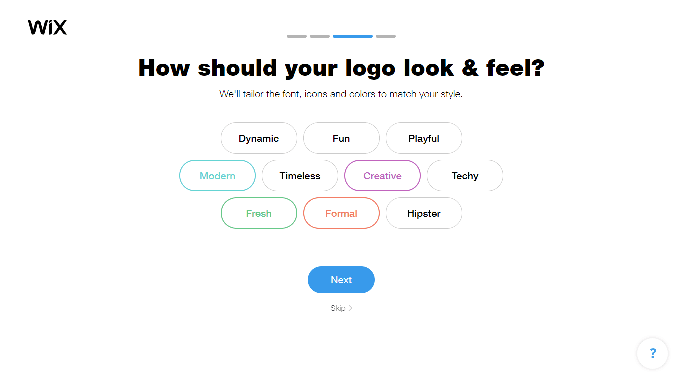 Wix Logo Maker screenshot - look & fee