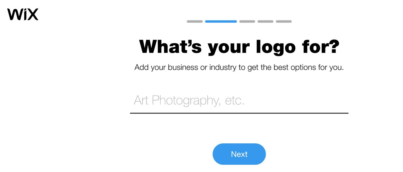 Wix Logo Maker screenshot - Add industry