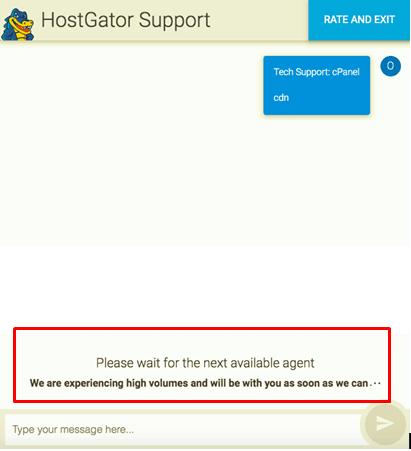 HostGator live chat support