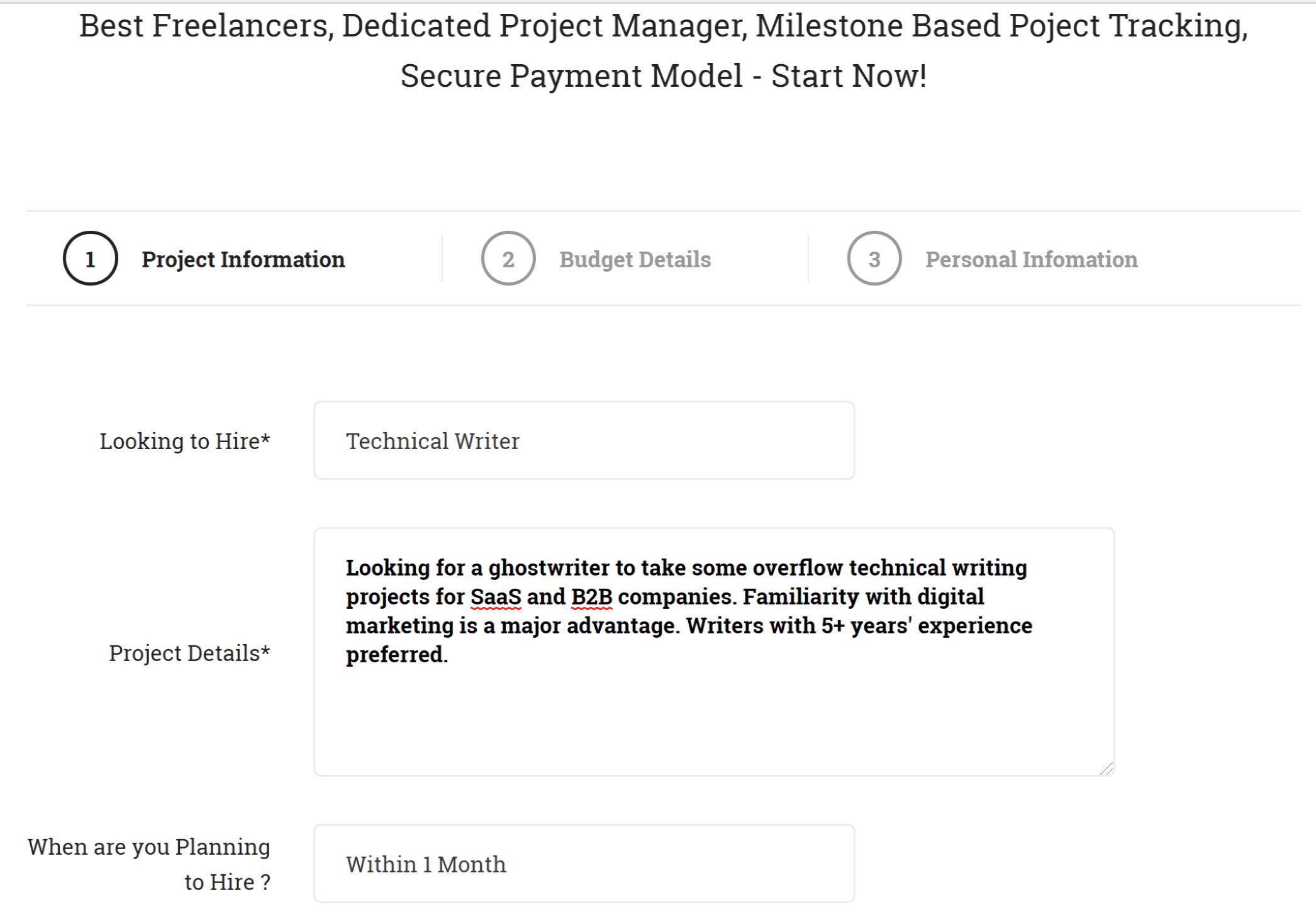 Skilldosti screenshot - project information