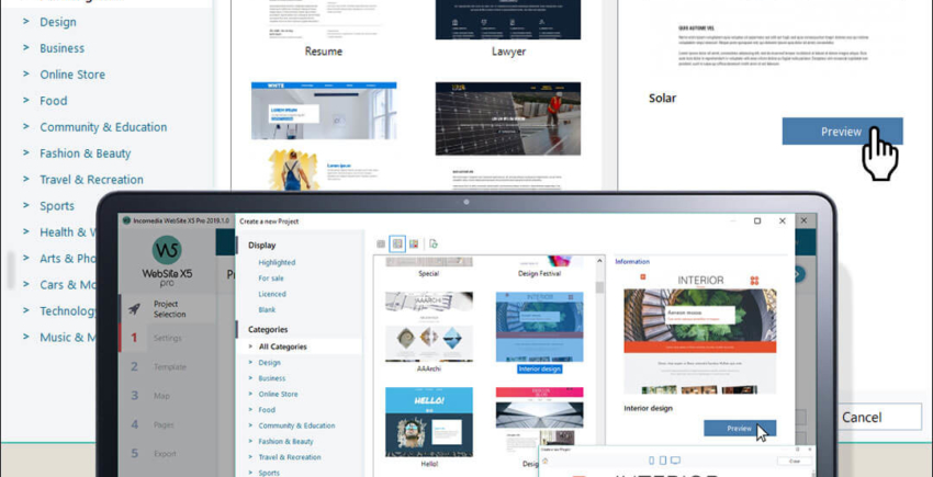 Build Your Own Website in 5 Steps with Website X5 Wizard
