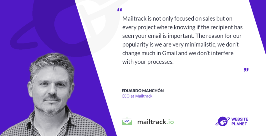 Website planet interview with Mailtrack CEO Eduardo Manchón