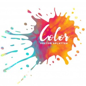 Art logo - Color vector splatter
