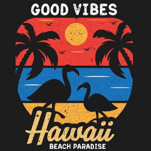 Beach logo - Good Vibes Hawaii Beach Paradise